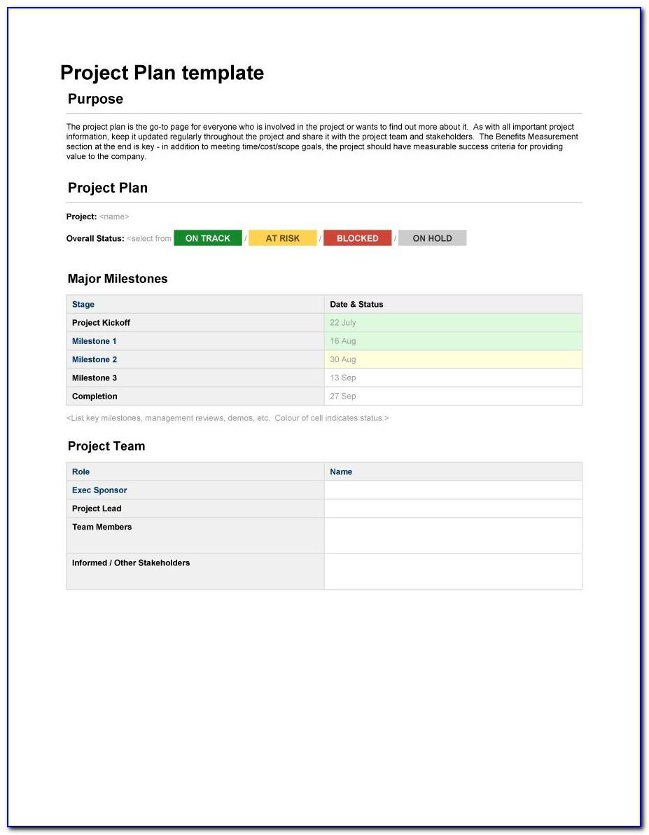 Project Management Contract Template Word
