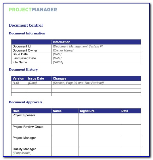Project Management Forecast Template