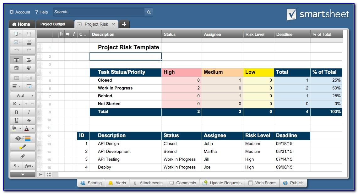 Project Management Issue Tracker Template