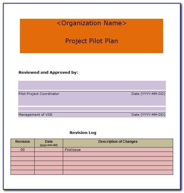 Project Management Plan Template Gantt Chart