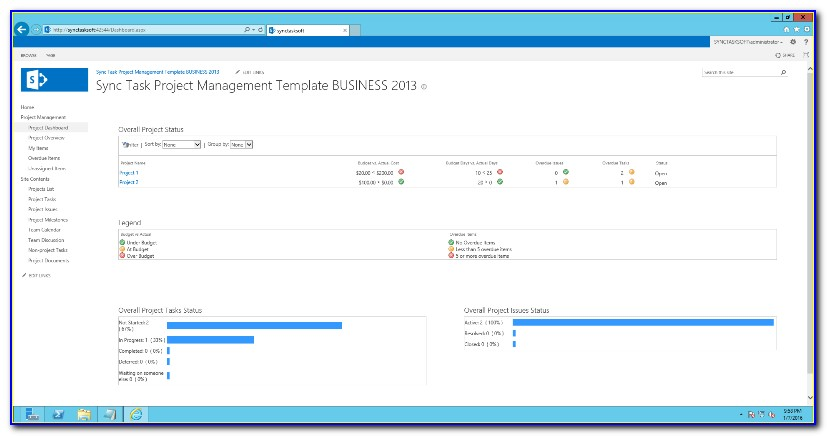 Project Management Template Sharepoint 2016