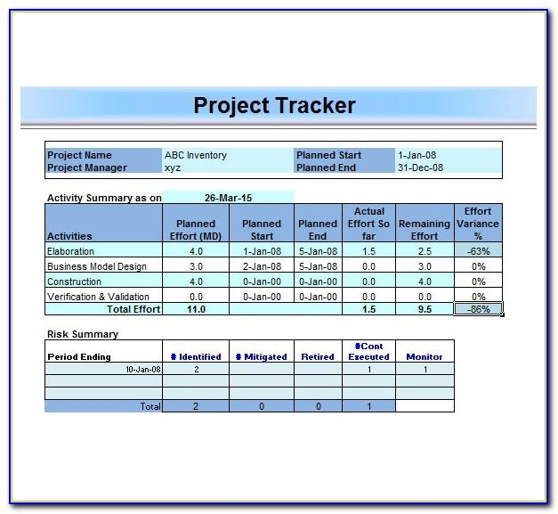 Project Management Template Wordpress