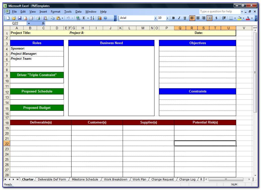 Project Management Template Xls