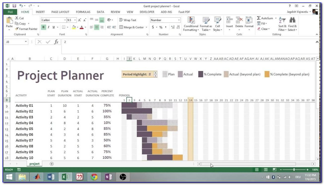 Project Plan Excel Template Free Download