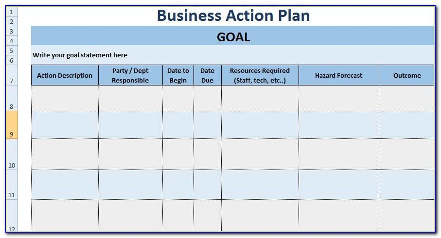 Project Plan Excel Template Xls