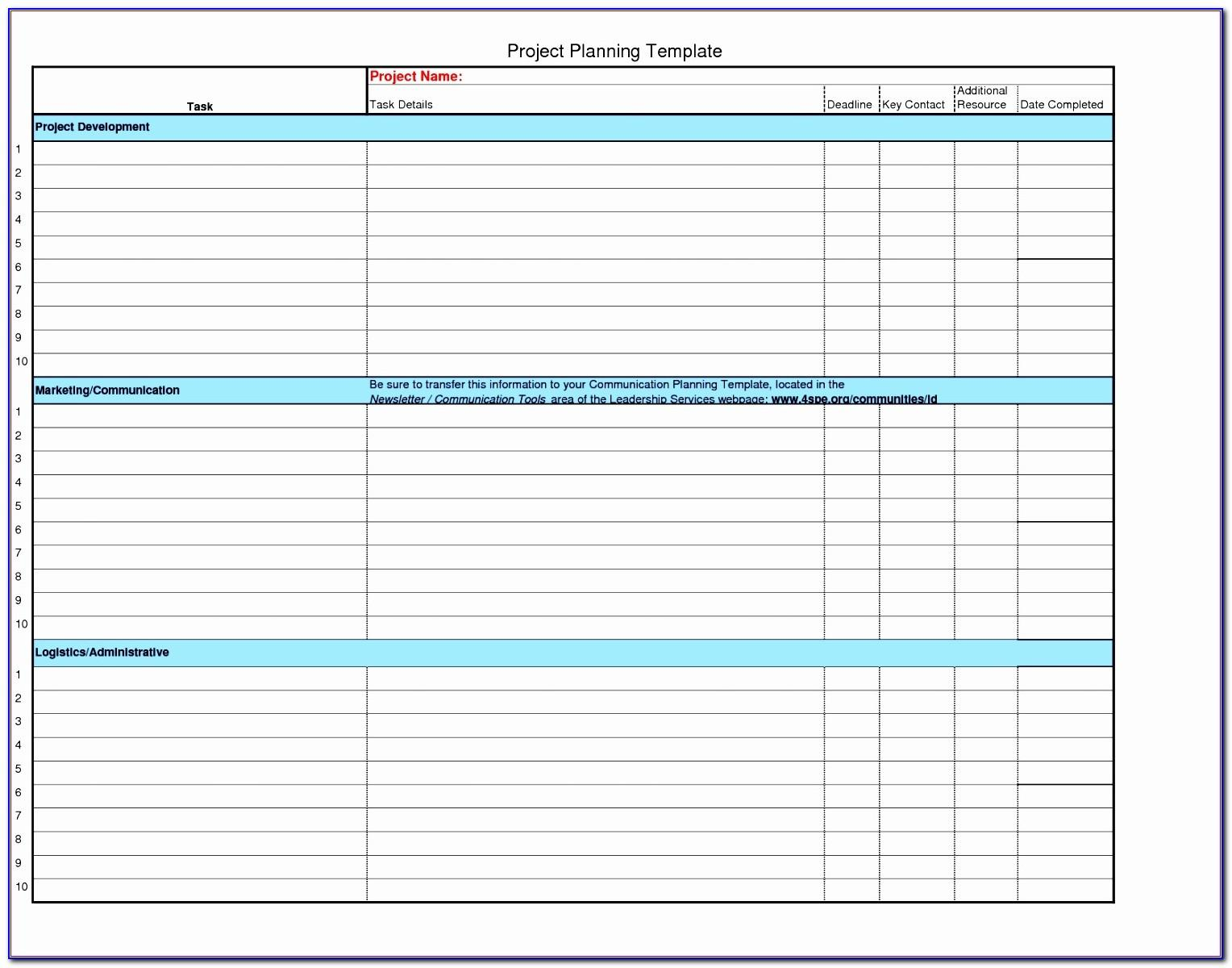 Project Plan Template Excel 2010