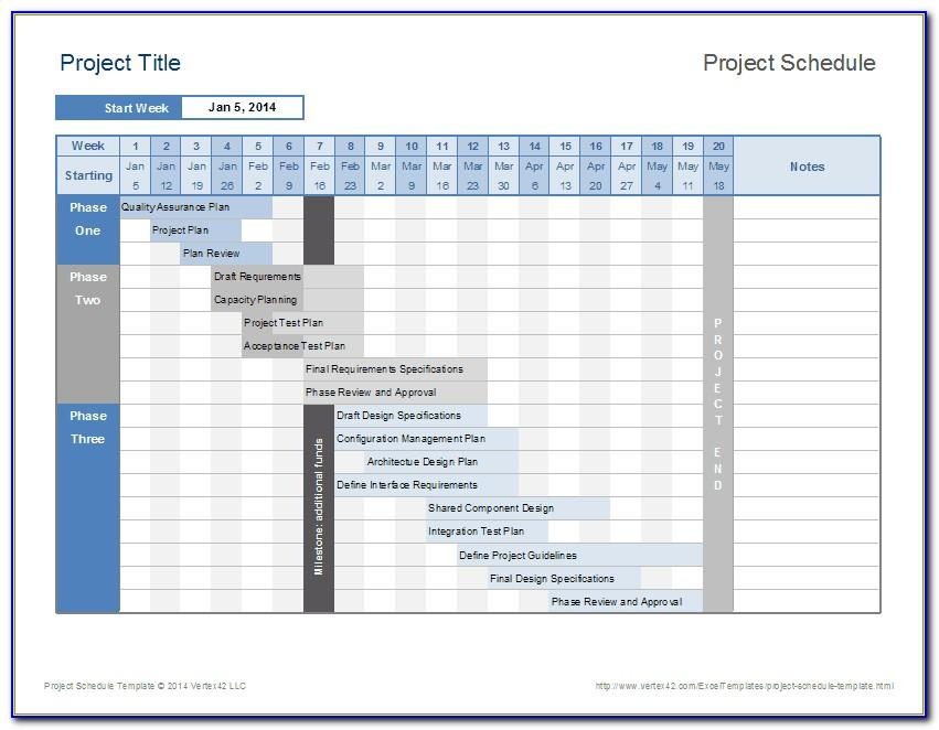 Project Plan Template Excel 2013 Xls