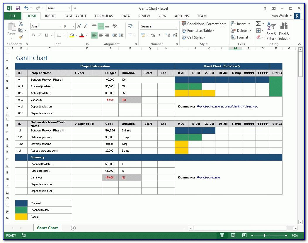 Project Plan Template Free Download Excel
