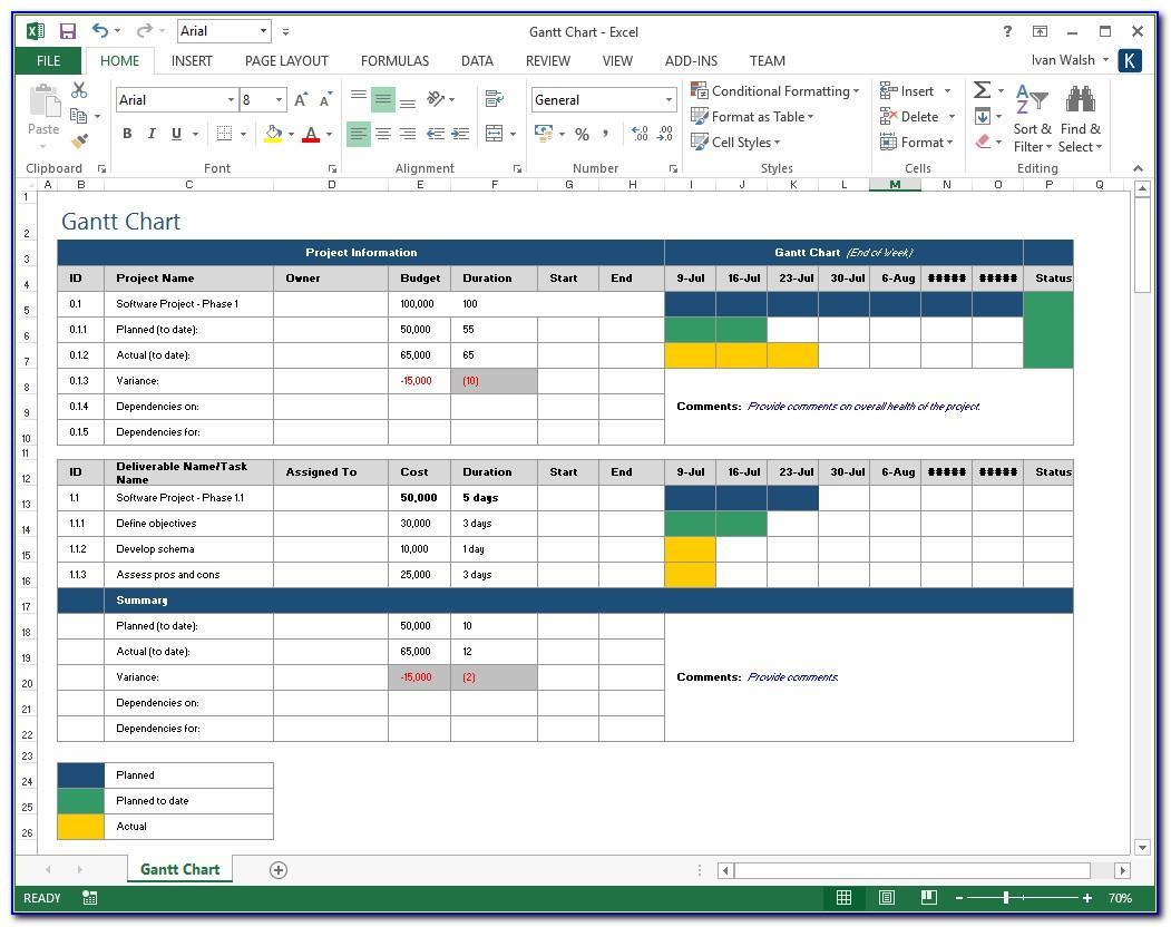 Project Schedule Template Xlsx