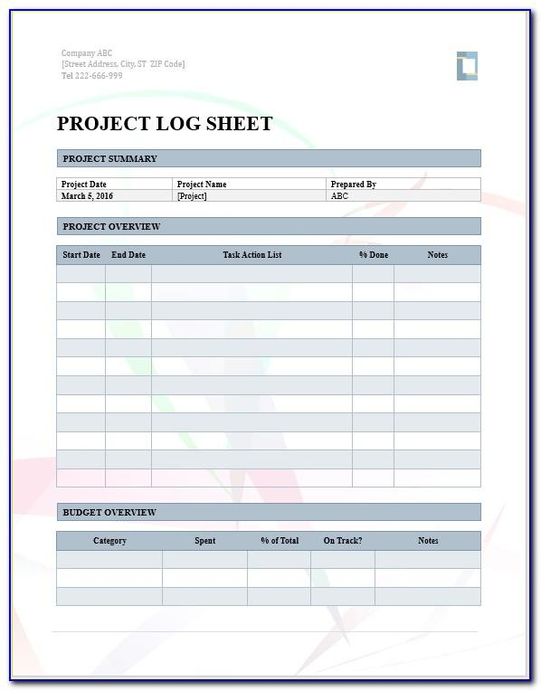 Project Tracker Templates Excel