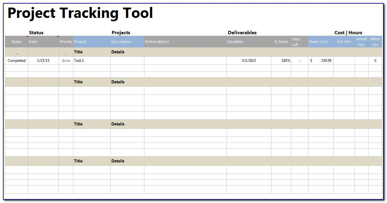 Project Tracking Sheet Excel