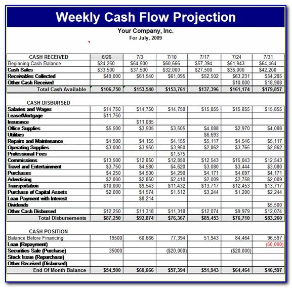 Projected Income Statement Sample