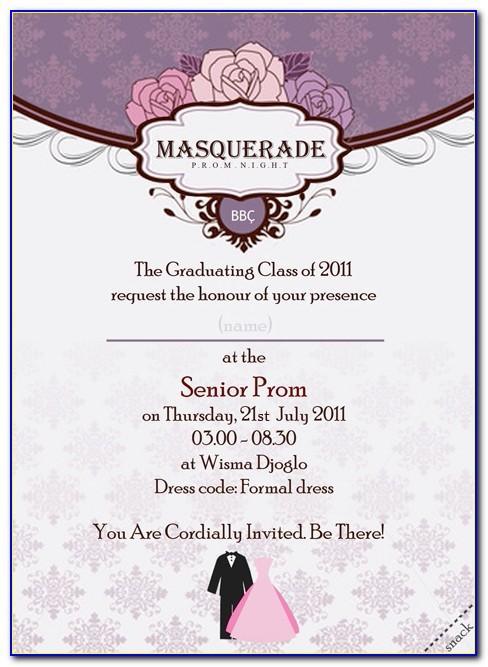 Prom Invitation Maker Online