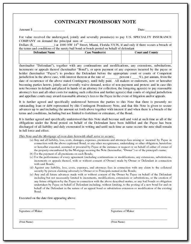 Promissory Note Form Arizona
