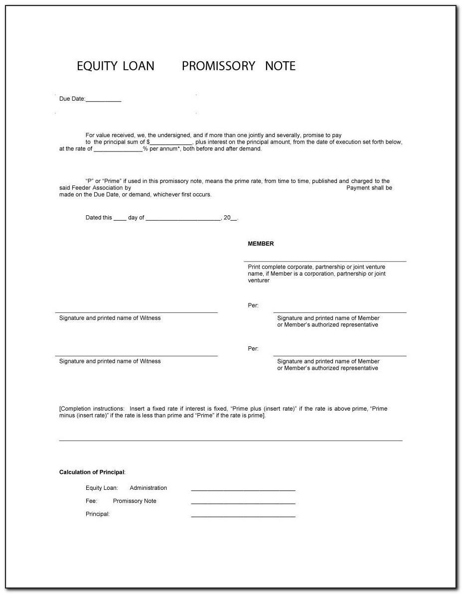 Promissory Note Form Free Download