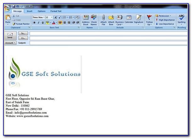 Proper Email Signature Format