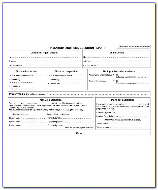 Property Condition Report Template Nt
