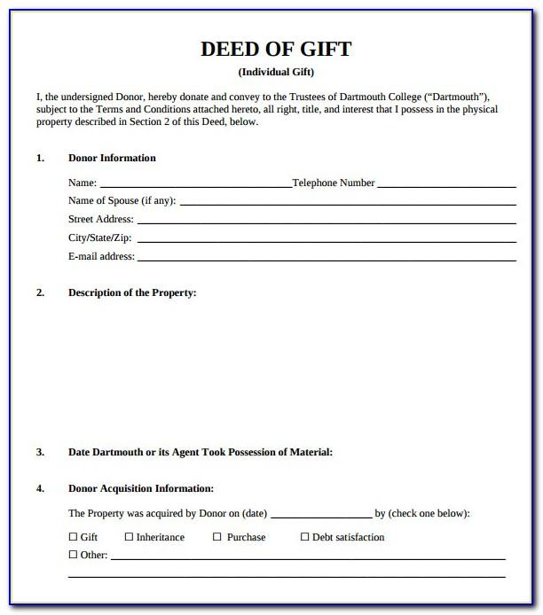 Property Gift Deed Sample