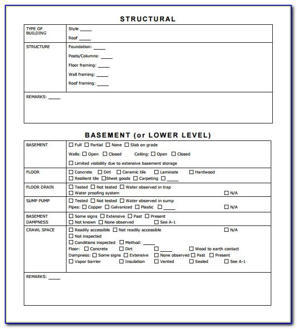 Property Inspection Checklist Form Download