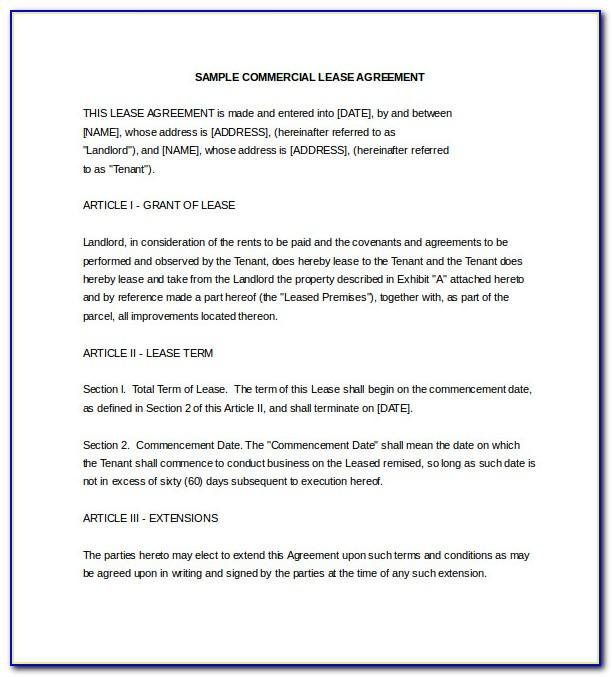 Property Lease Agreement South Africa
