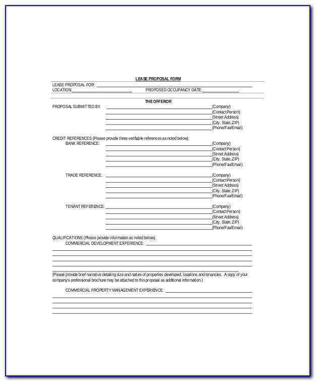 Property Lease Proposal Template