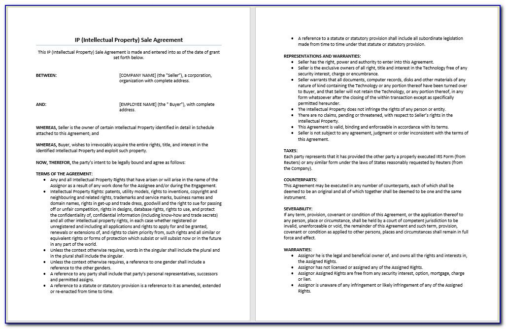 Property Sale Agreement Template Free