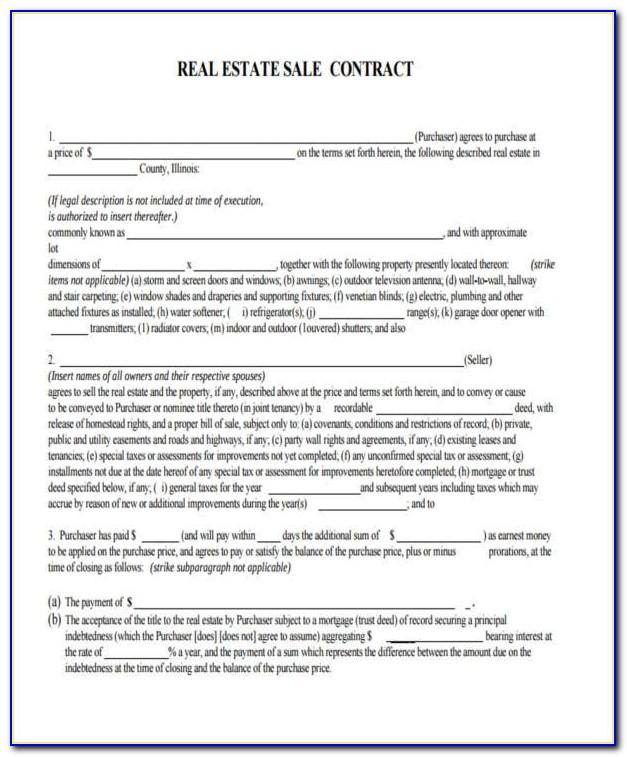 Property Sales Contract Form