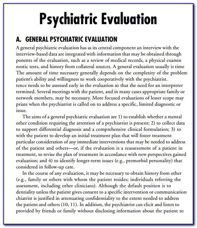 Psychiatric Admission Note Example