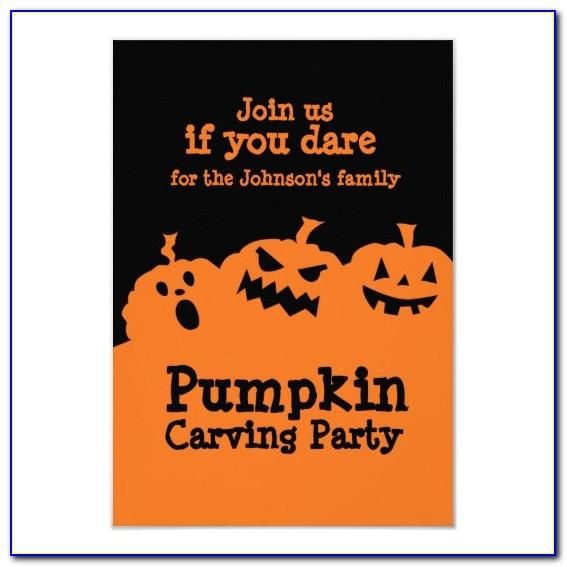 Pumpkin Carving Party Invitations Templates Free