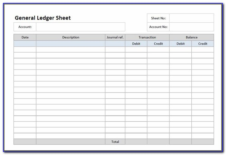 Purchase Ledger Template Excel