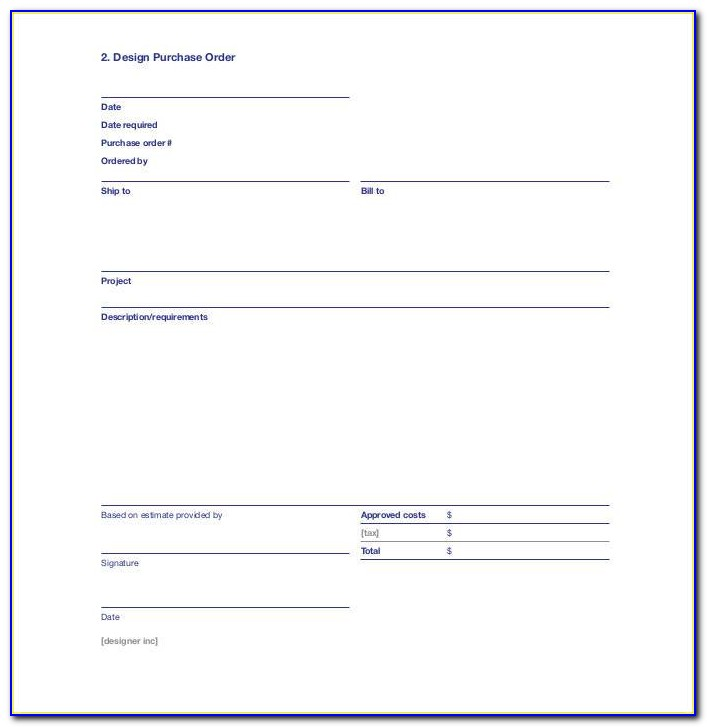 Purchase Order Requisition Sample