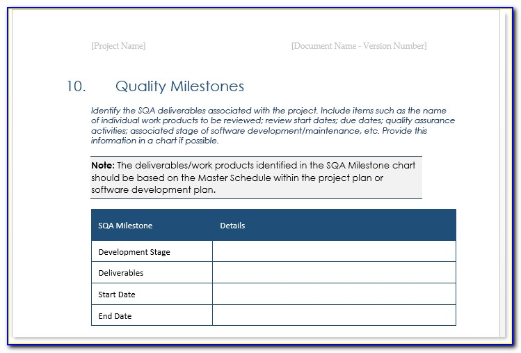 Quality Assurance Plan Template For Behavioral Health
