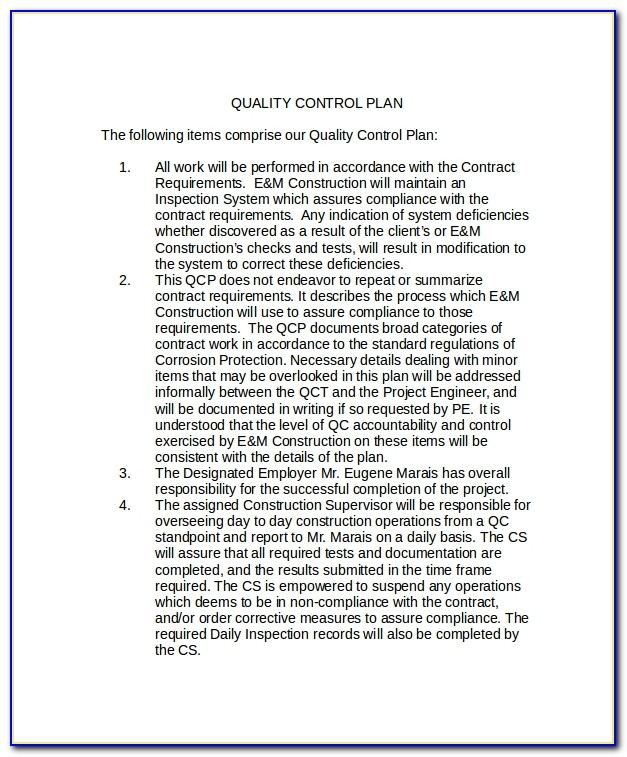 Quality Assurance Policy Template Australia