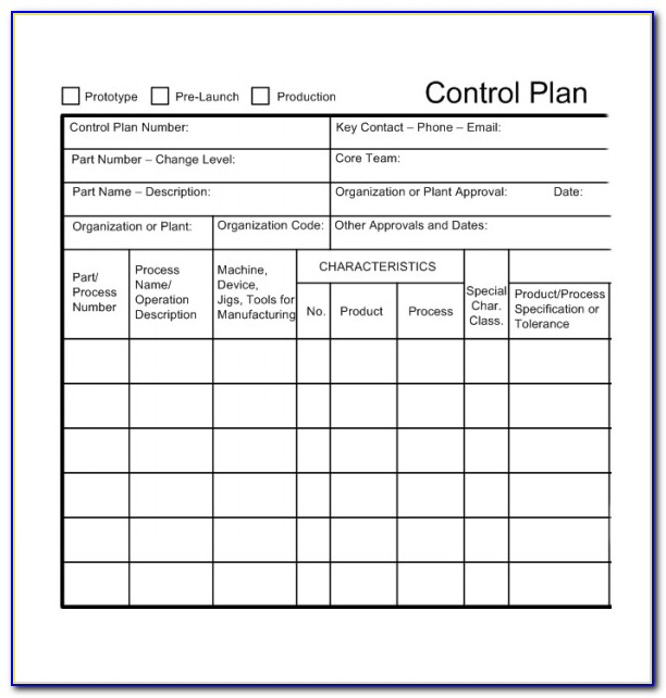 Quality Control Plan Construction Sample
