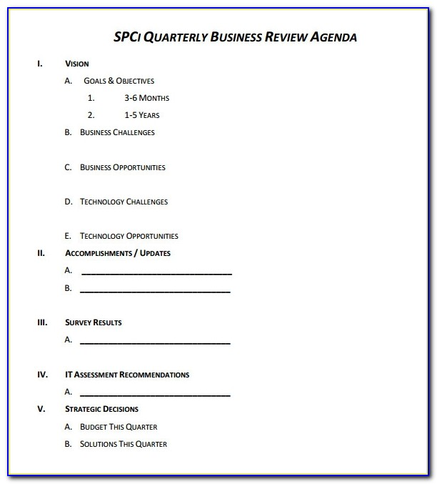 Quarterly Balance Sheet Example
