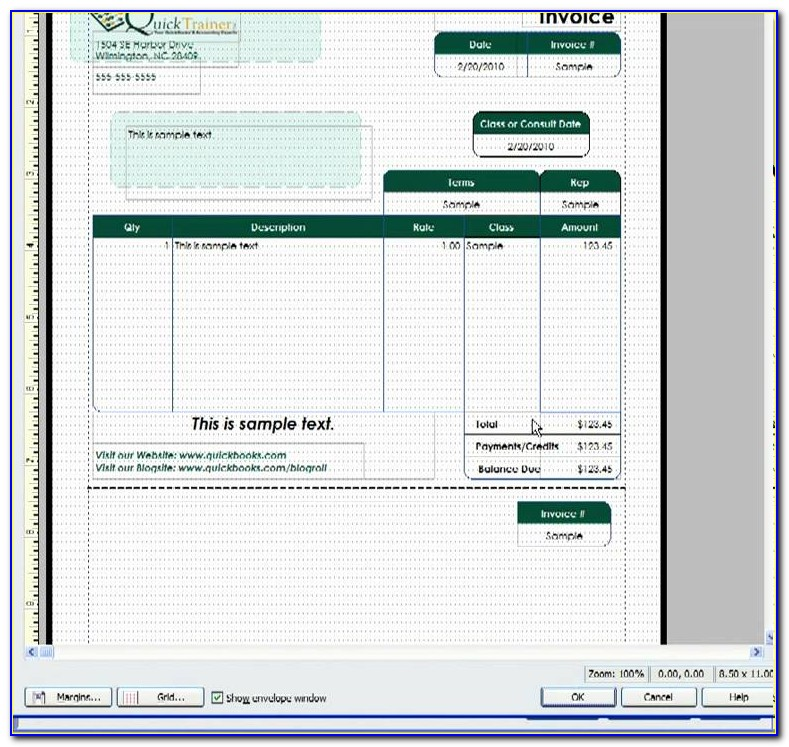 Quickbooks 2014 Change Invoice Template