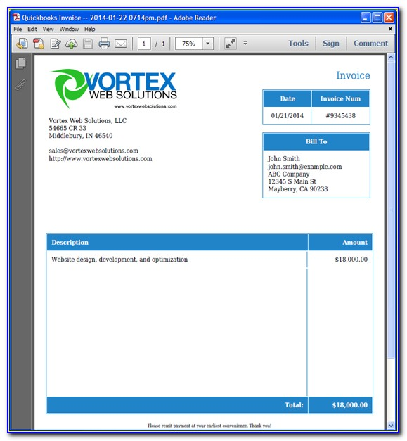 Quickbooks Desktop Change Invoice Template