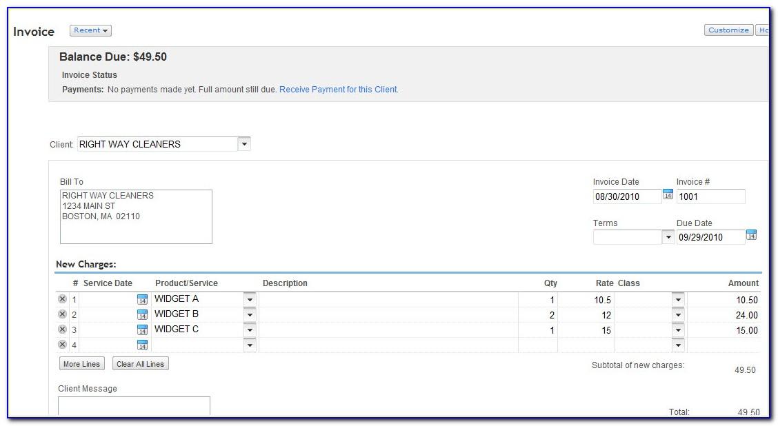 Quickbooks Export Invoice Template To Excel