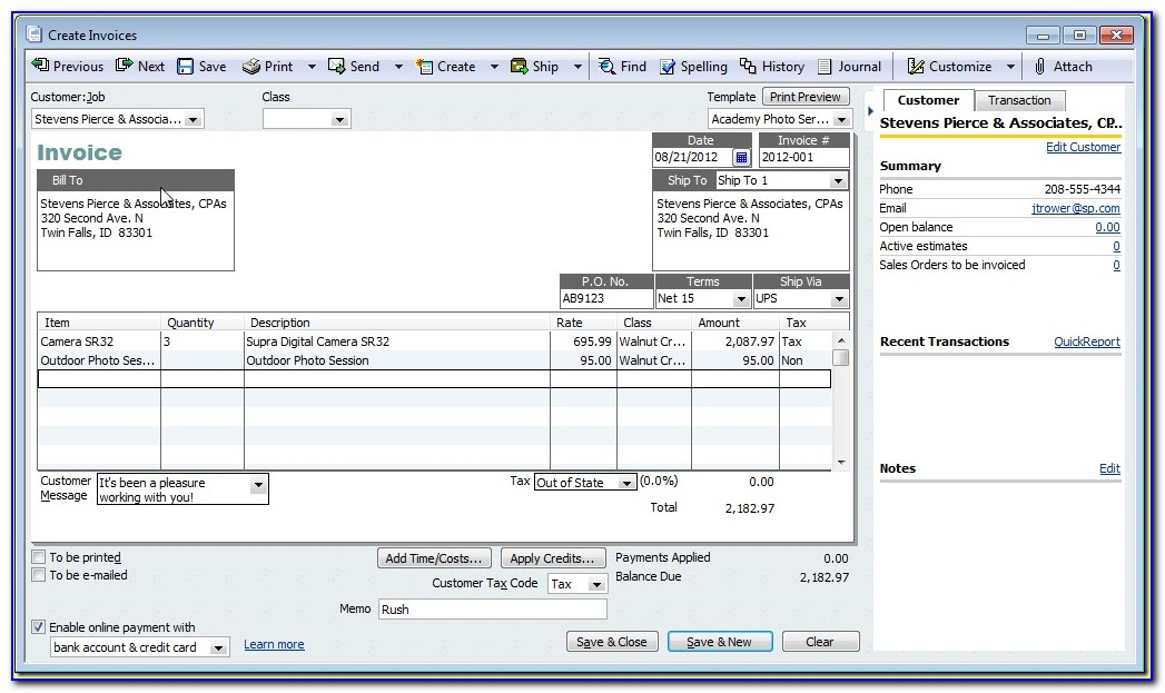 Quickbooks Invoice Template File Extension