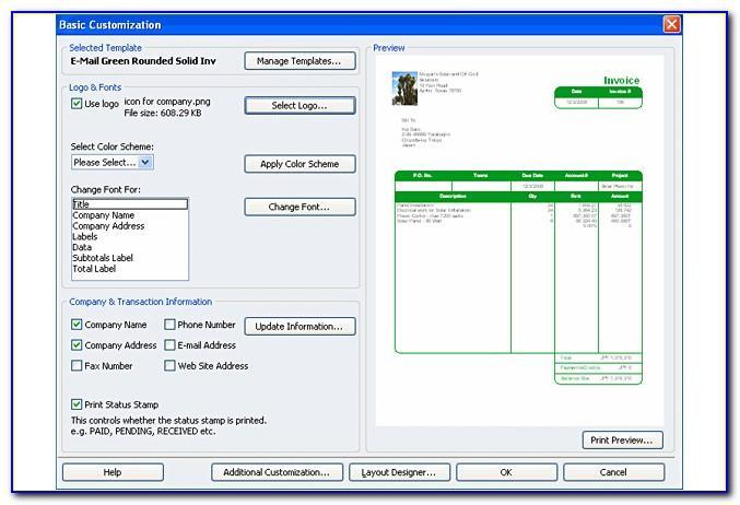 Quickbooks Online Customize Invoice Email