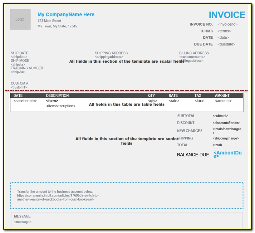 Quickbooks Online Estimate Template Download