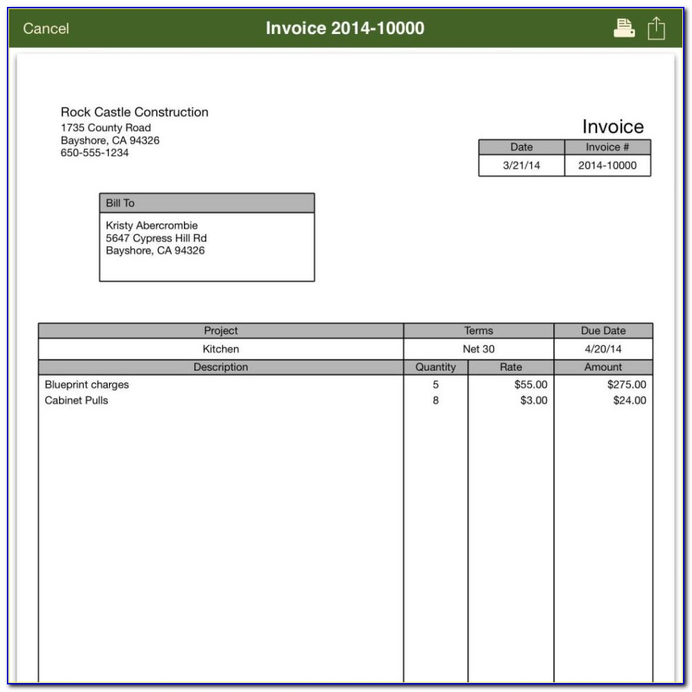 Quickbooks Setup Default Invoice Template