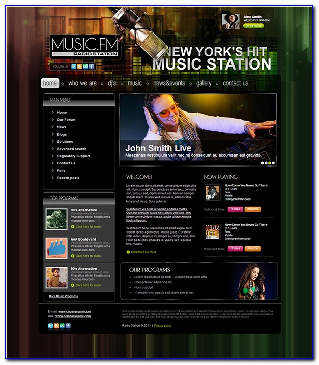 Radio Station Web Templates
