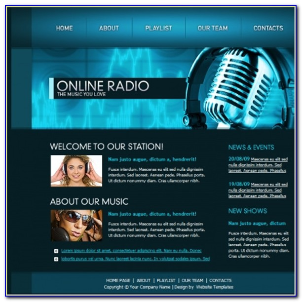 Radio Station Website Templates Free