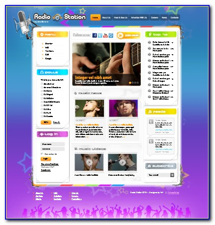 Radio Station Website Templates Html