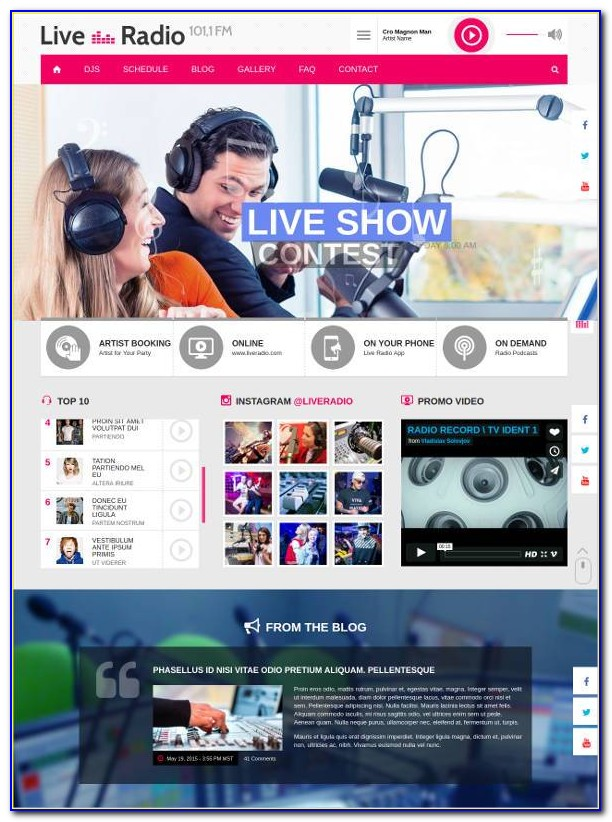Radio Station Website Templates Joomla