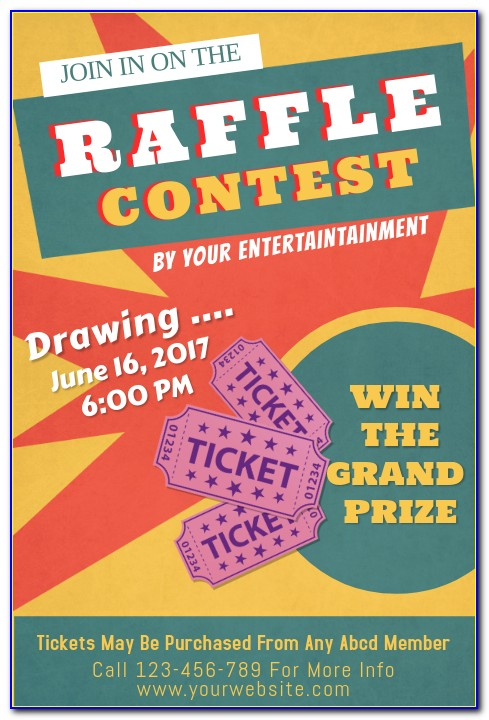 Raffle Prize Flyer Template Free