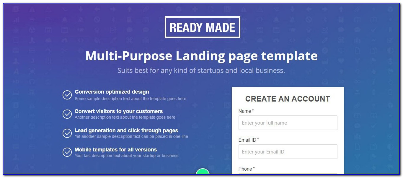 Ready Made Web Page Templates
