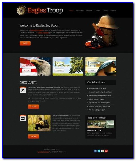 Readymade Website Templates Free