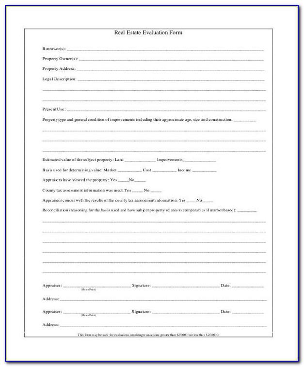 Real Estate Appraisal Document
